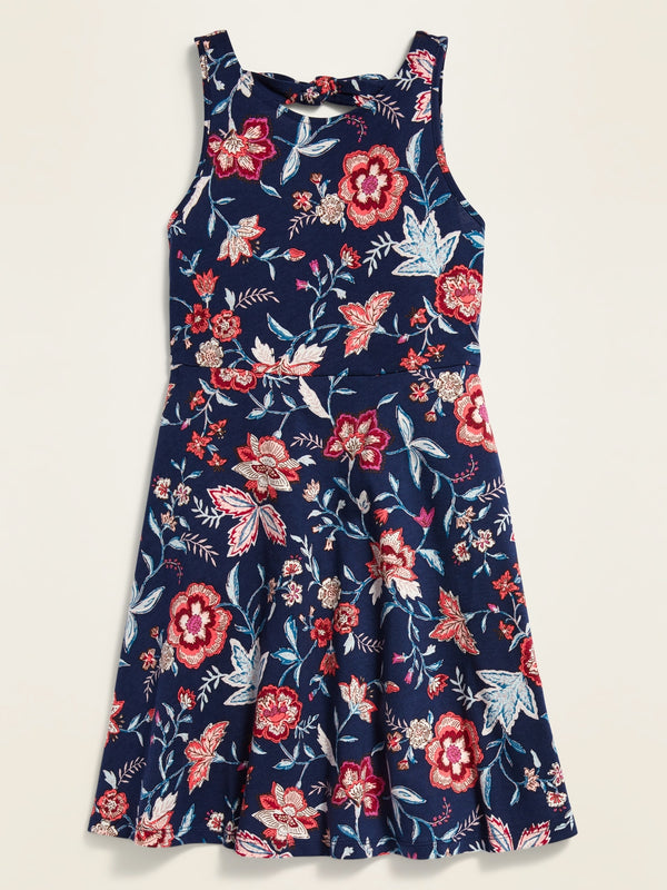 ON Fit & Flare Tank Dress For Girls - Navy Floral