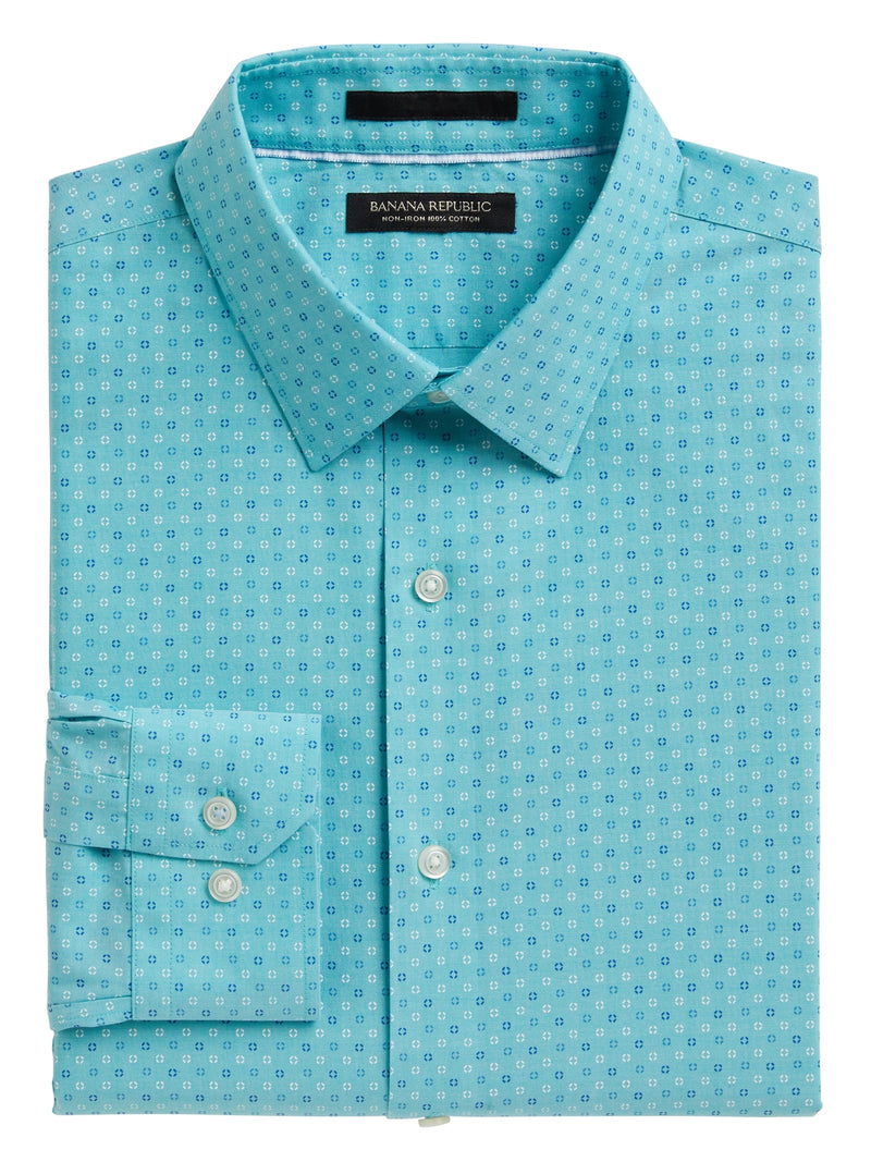 BR Slim-Fit Non-Iron Dress Shirt - Seagreen