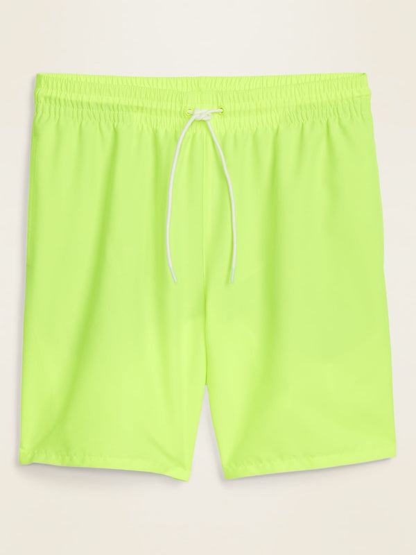 ON Solid-Color Swim Trunks for Men -- 8-inch inseam - Neon Yellow