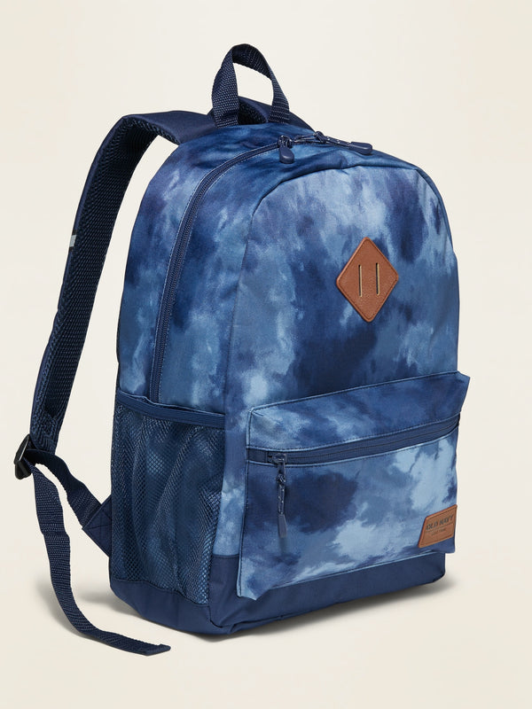 ON Patterned Canvas Backpack For Kids - Cool Tie Dye