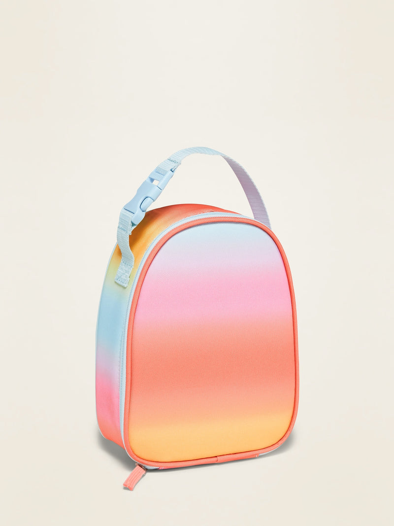 ON Zip Lunch Bag For Girls - Rainbow