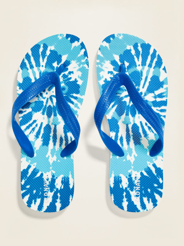 ON Accesorio Printed Flip-Flops for Boys - Tie Dye Cool