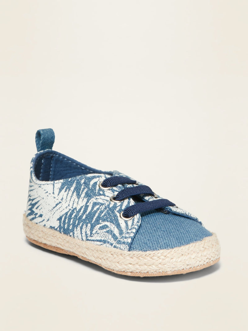 ON Twill Espadrille Sneakers For Baby - Chambray Print