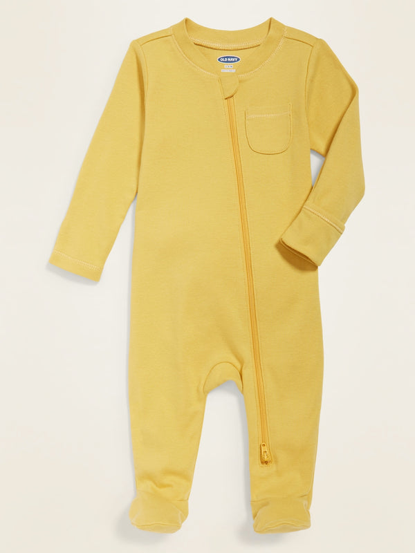 ON OnePiece Solid Footie Pajama One-Piece for Baby - Bee In A Bonnet