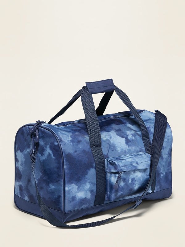 ON Patterned Canvas Duffel Bag For Kids - Cool Tie Dye