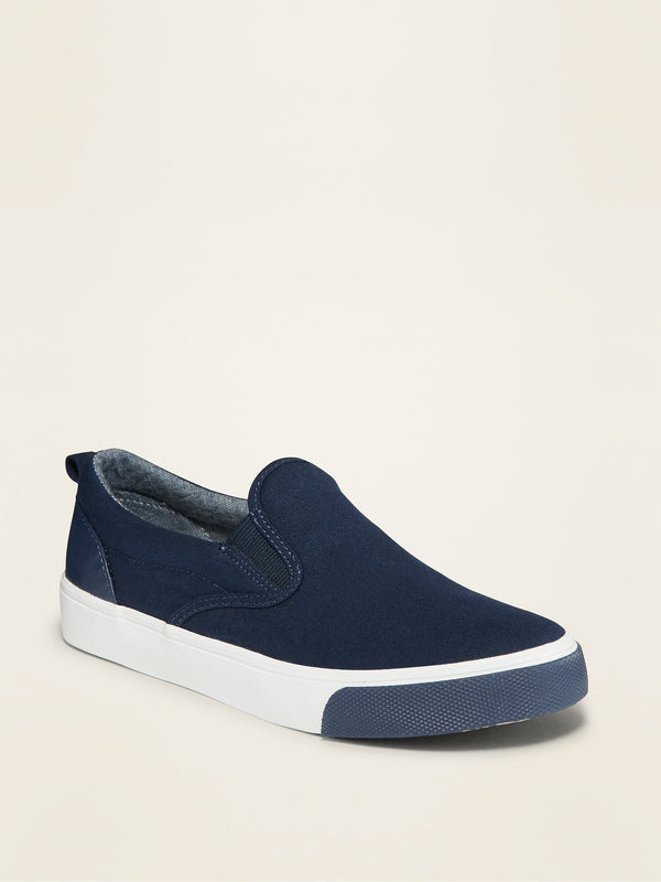 ON Canvas Slip-On Sneakers For Boys - Lost At Sea Navy