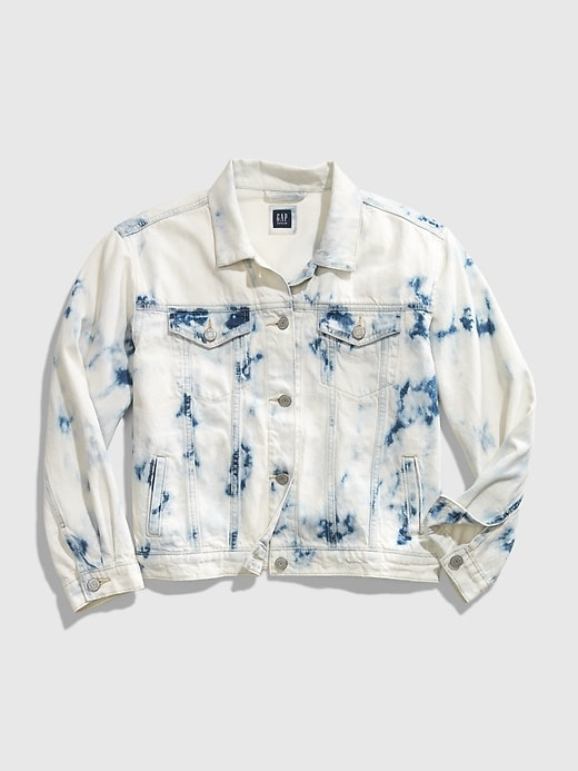 GAP Teen Tie-Dye Denim Jacket - Denim