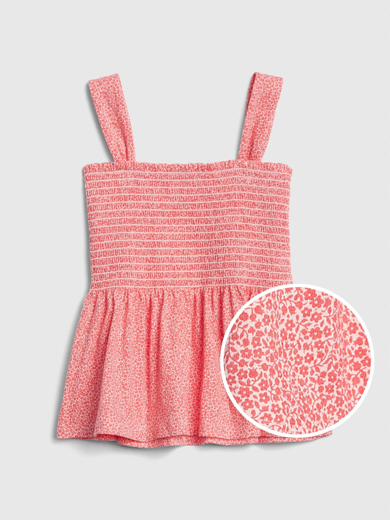 Gap Kids Cinched Tank Top - Rosado