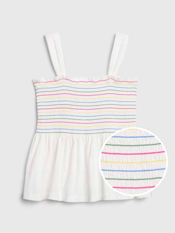 Gap Kids Cinched Tank Top - Blanco