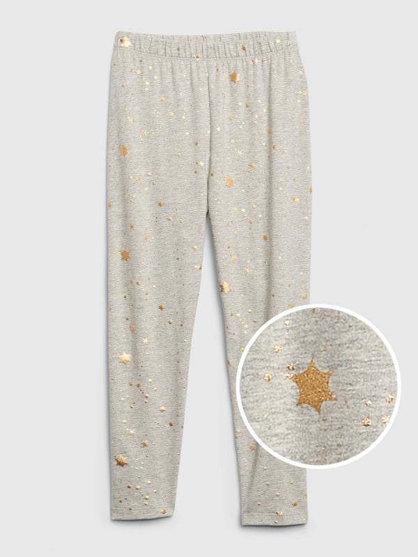 Gap Kids Print Capri Leggings In Stretch Jersey - Foil Stars