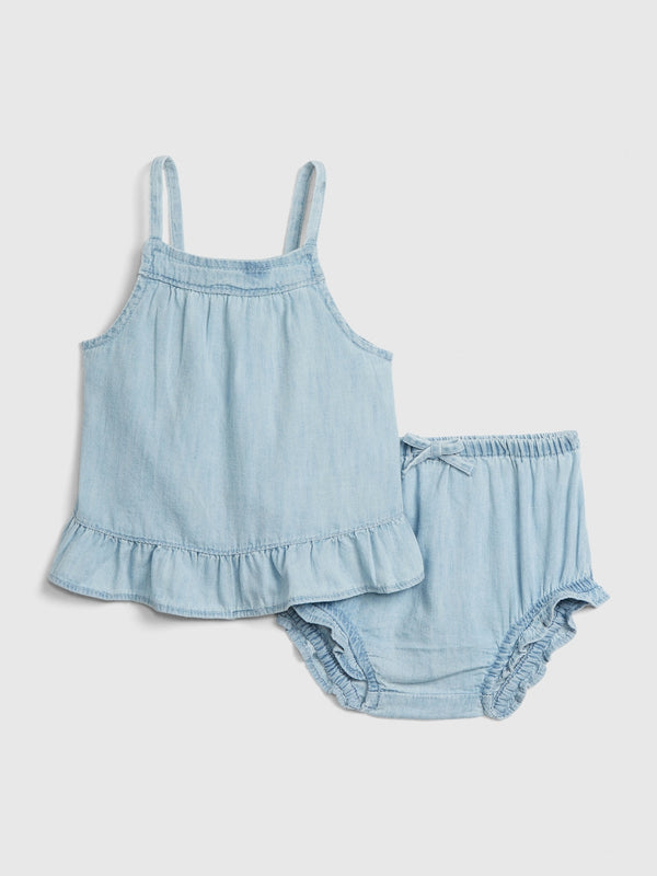 Gap Baby Denim Ruffle 2-Piece Set - Denim