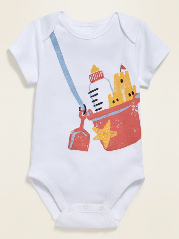 ON Graphic Short-Sleeve Bodysuit For Baby - Sandcastle