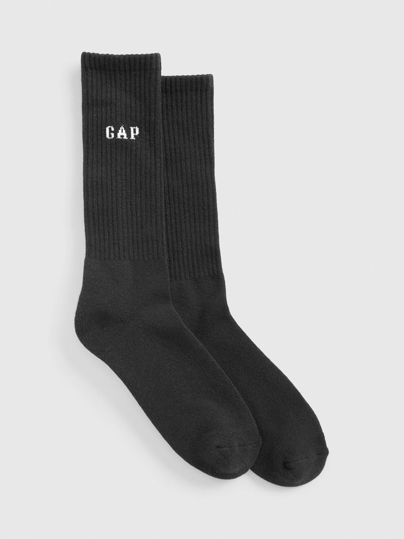 Gap Gap Logo Crew Socks - True Black