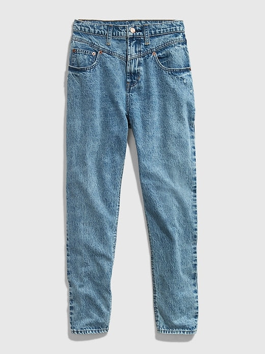 GAP Teen High-Rise Mom Jean - Denim
