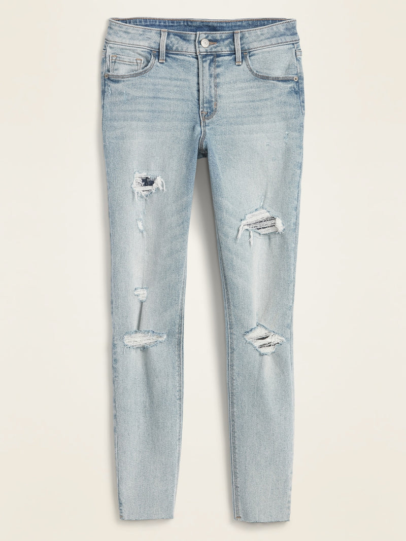 ON Mid-Rise Distressed Rockstar Cut-Off Ankle Jeans For Women - Elsie