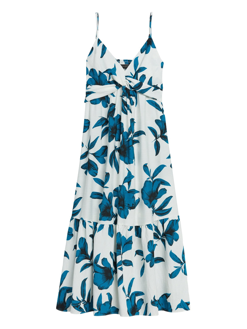 BR Floral Twist-Front Midi Dress - Moroccan Floral Large
