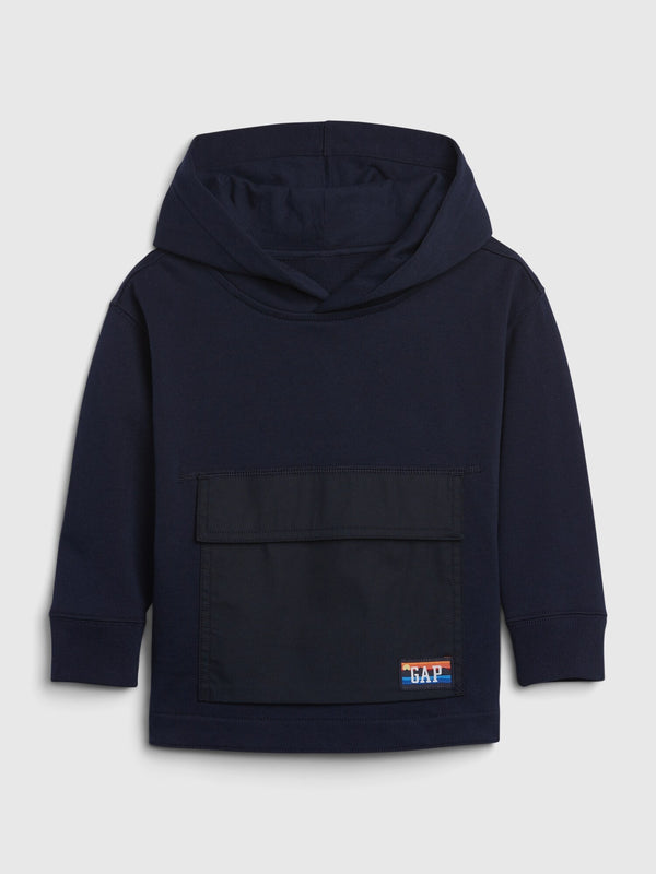 Gap Toddler Flap-Pocket Hoodie - Tapestry Navy