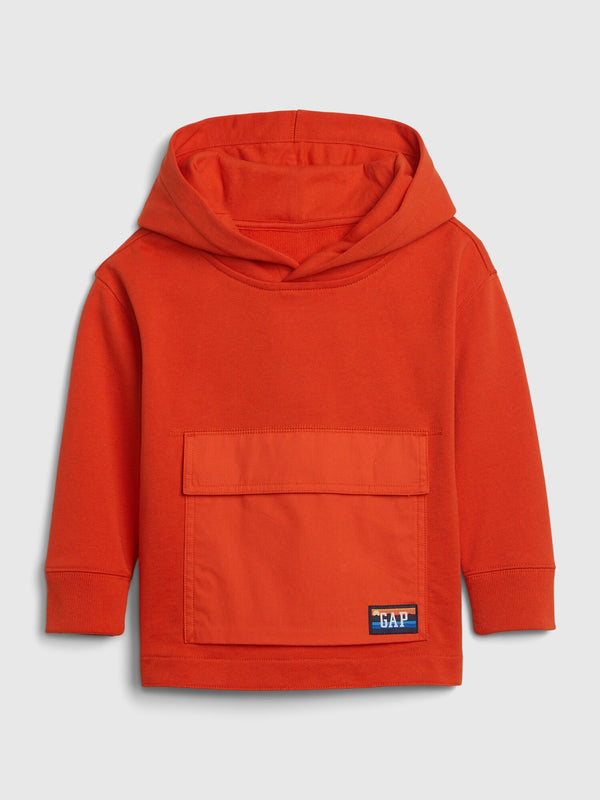 Gap Toddler Flap-Pocket Hoodie - Grenadine Orange