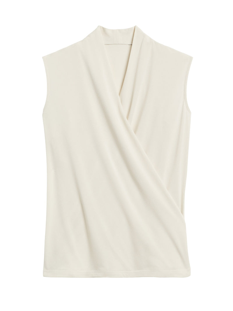 BR Wrap-Effect Top - Cream