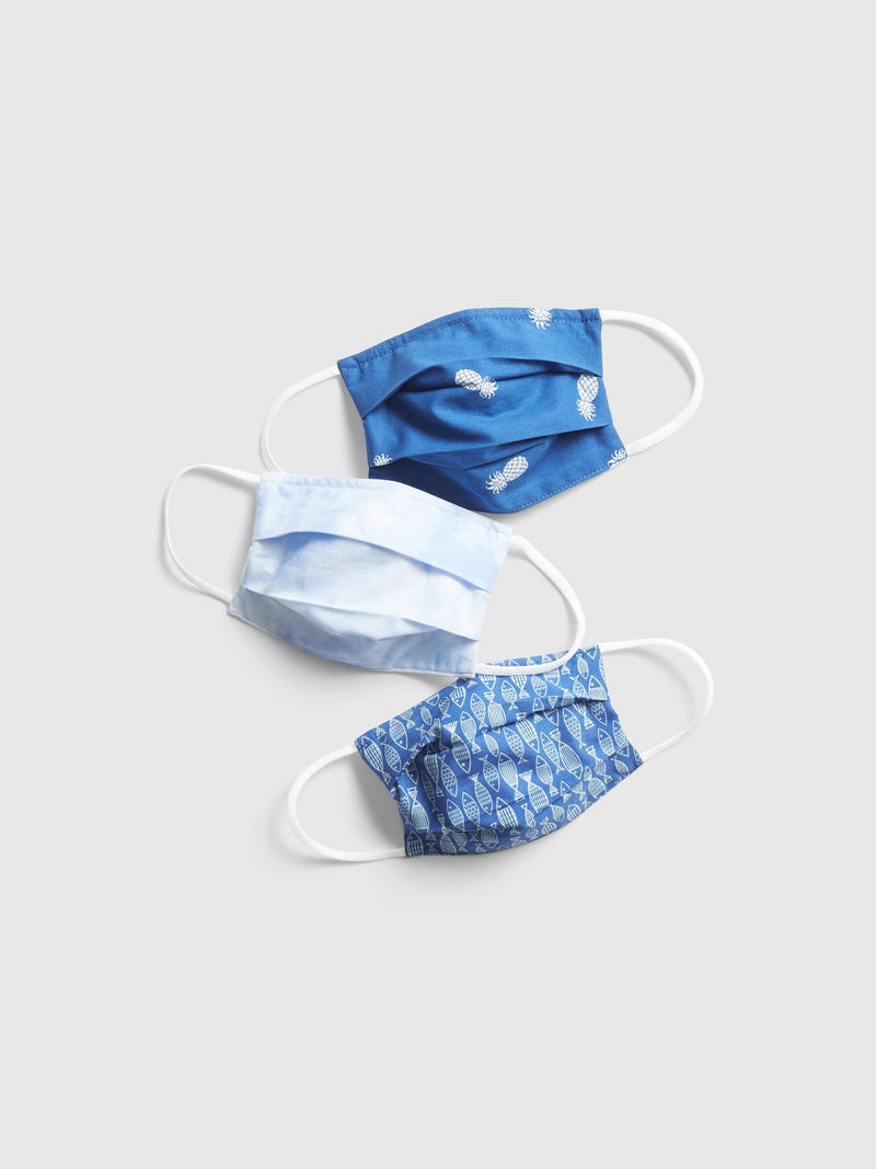Gap Kids' Unisex Face Mask (3-pack) - Mascarillas Assorted Blue
