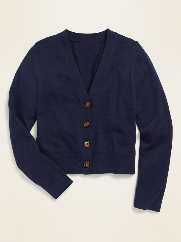 ON Uniform V-Neck Cardigan for Girls - Lost At Sea Navy