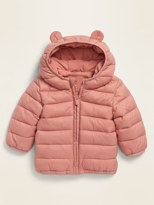 ON Unisex Hooded Frost-Free Jacket For Baby - Pink Paradigm