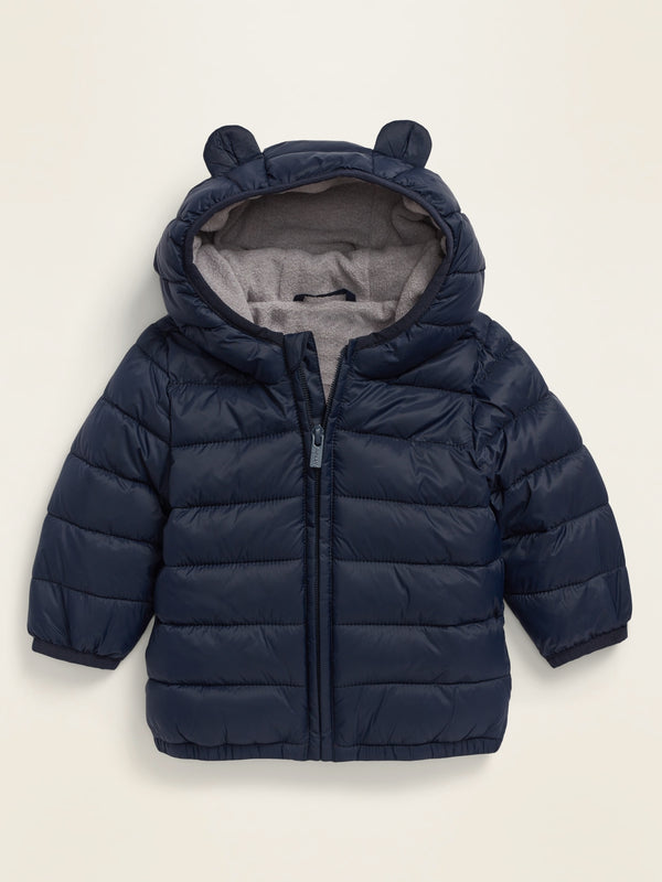 ON Unisex Hooded Frost-Free Puffer Jacket For Baby - In The Navy