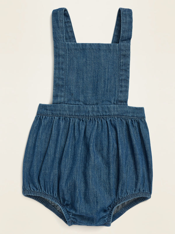 ON Sleeveless Chambray Bubble One-Piece for Baby - Chambry