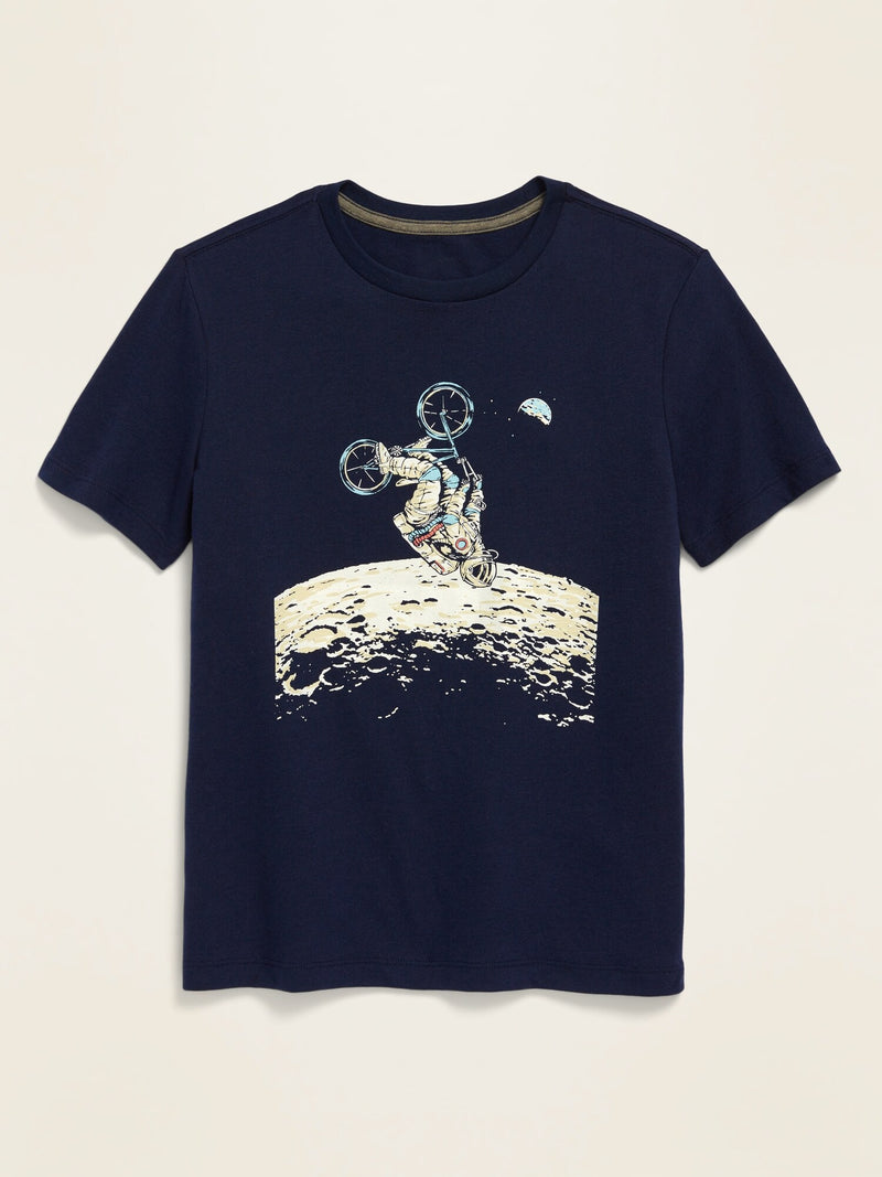 ON Short-Sleeve Graphic Tee For Boys - Lost At Sea Navy