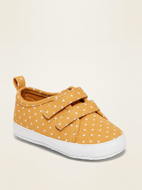 ON Printed Secure-Close Canvas Sneakers for Baby - Polka Dot