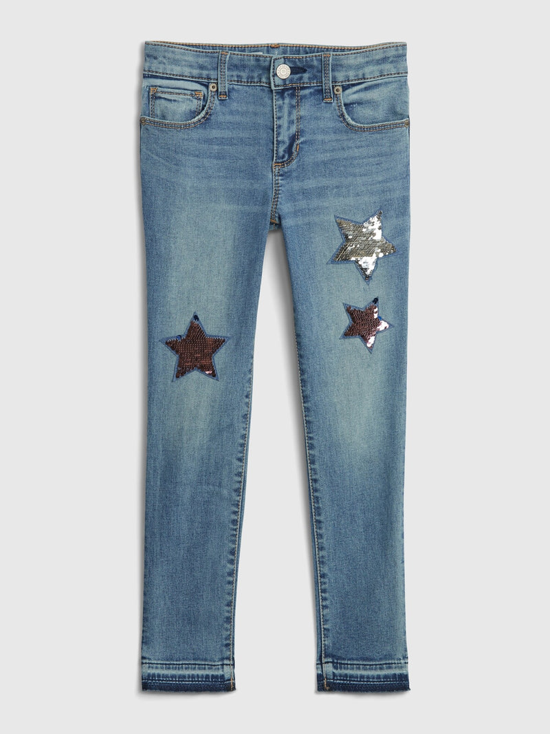 Gap Kids Flippy Sequin Skinny Ankle Jeans - Flippy Sequin Stars