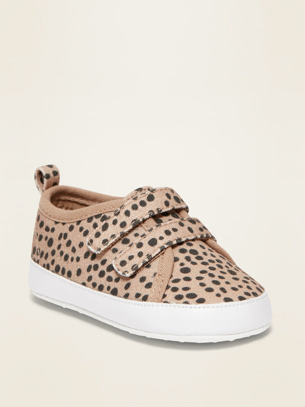 ON Printed Secure-Close Canvas Sneakers for Baby - Leopard