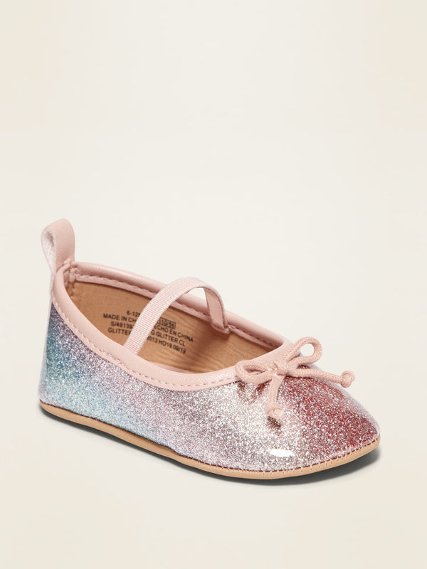ON Glitter Ballet Flats for Baby - Multi Glitter