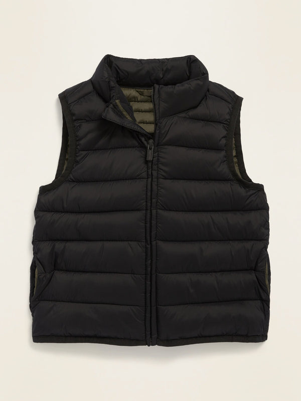 ON Frost-Free Solid Puffer Vest For Toddler Boys - Blackjack Jas