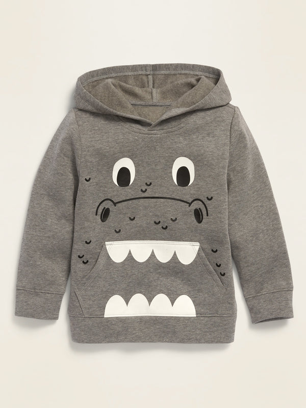 ON Graphic Pullover Hoodie for Toddler Boys - Medium Grey Heather