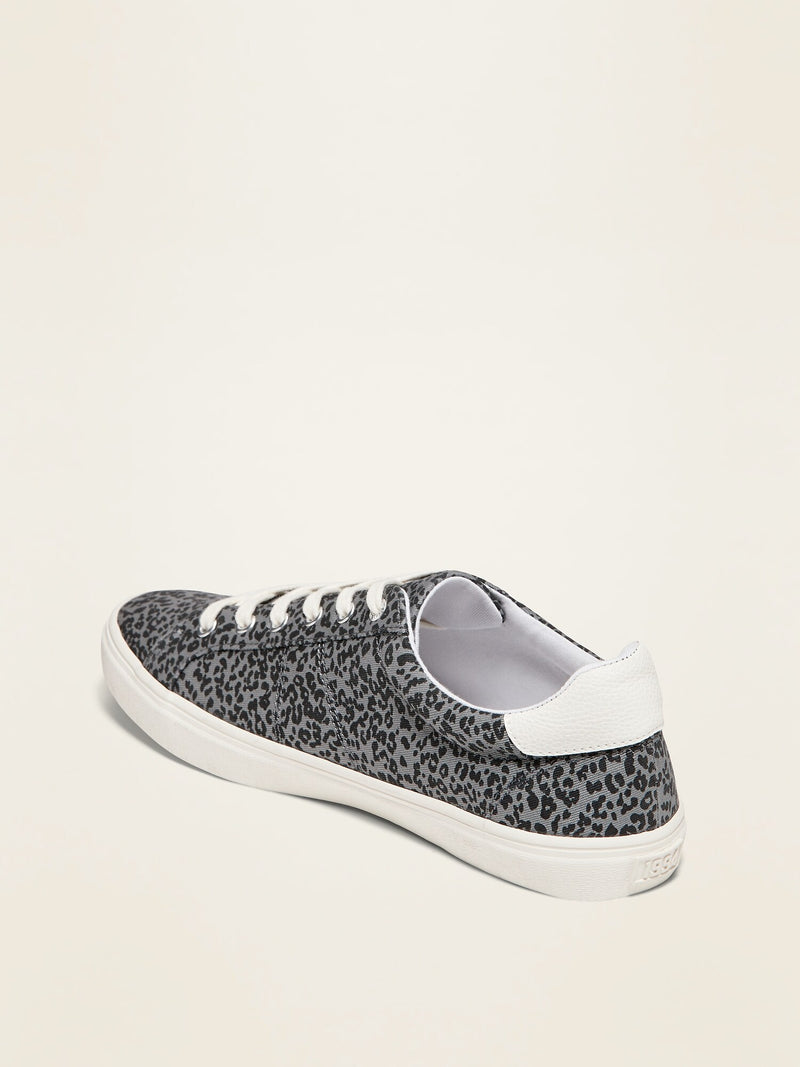 ON Leopard-Print Court Sneakers for Women - Grey Leopard