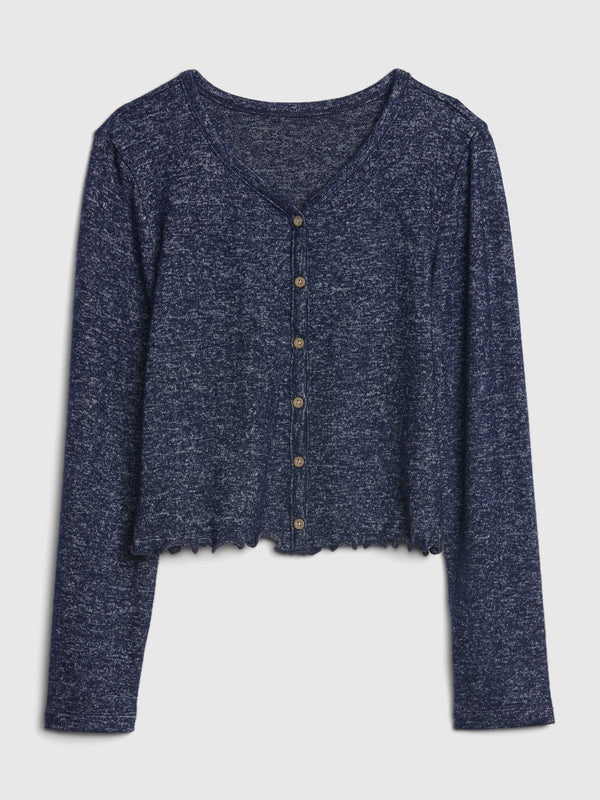 Gap Kids Softspun Button-Front Shirt - Navy Uniform