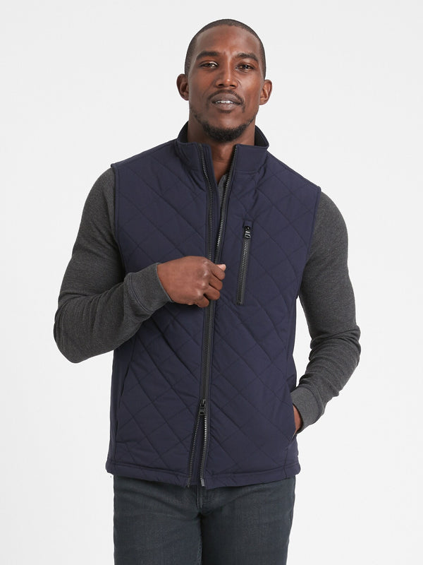BR Motion Tech Quilted Vest - Preppy Navy
