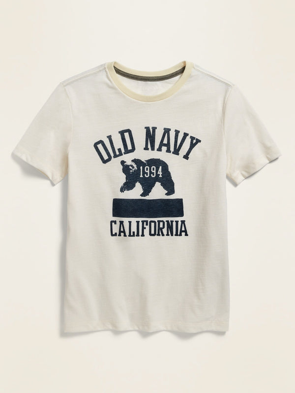 ON Logo-Graphic Short-Sleeve Tee For Boys - Sea Salt