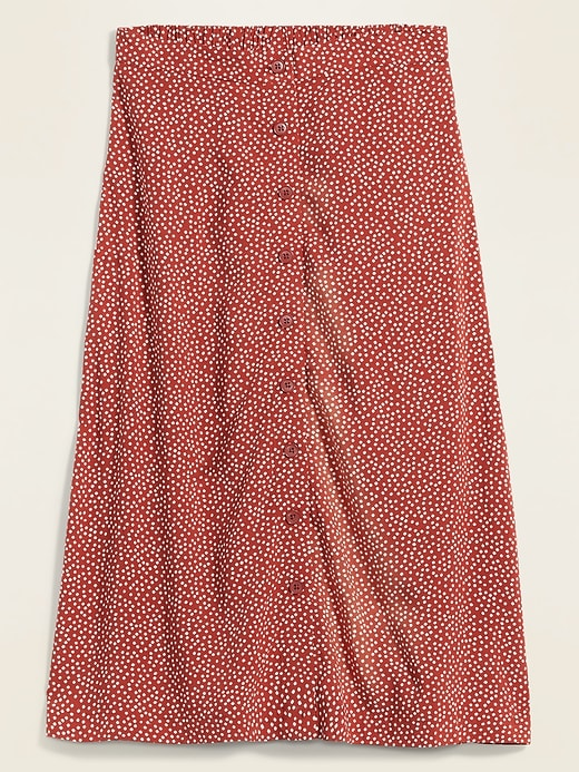 ON Soft-Woven Button-Front Midi Skirt For Women - Red Dot
