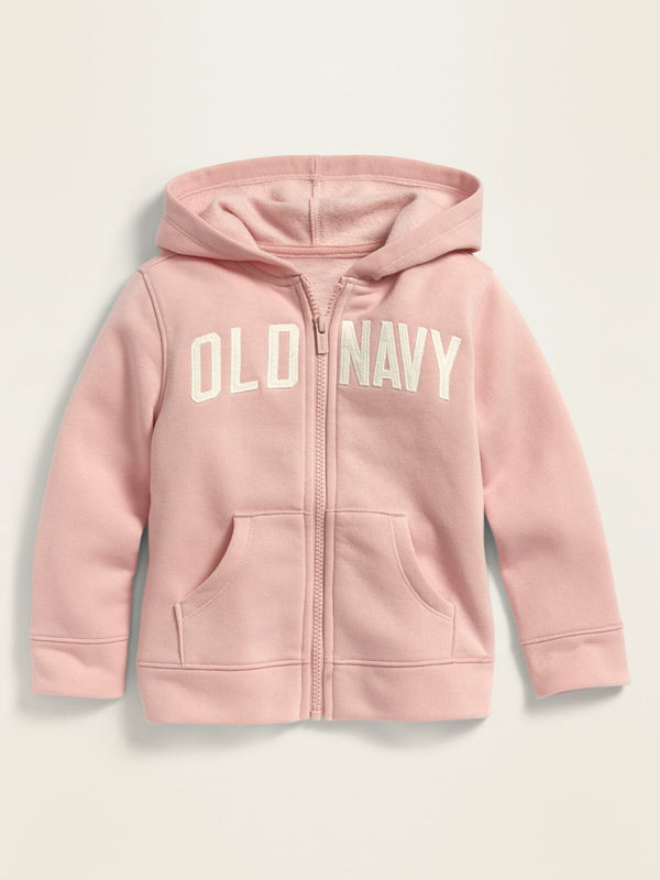 ON Unisex Logo-Graphic Zip Hoodie For Toddler - Blush Hue
