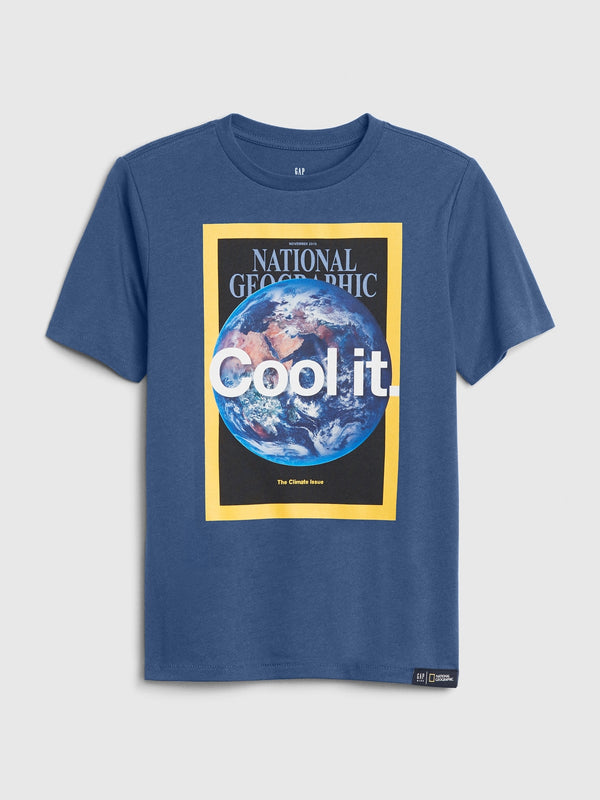 Gap Gapkids &#124 National Geographic Recycled T-Shirt -Blue Shade