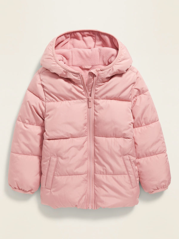 ON Unisex Solid Frost-Free Puffer Jacket For Toddler - Pink Paradigm