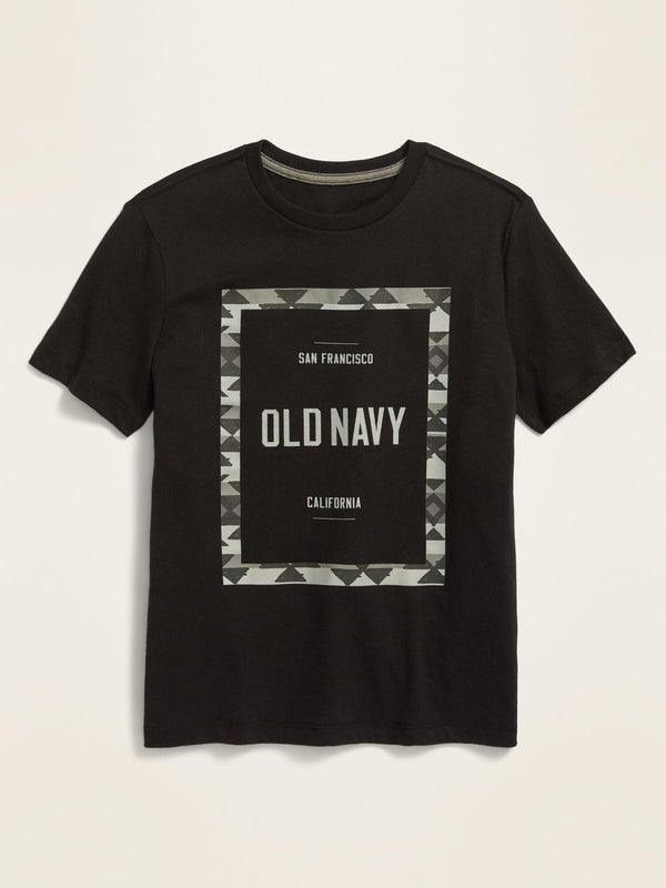 ON Logo-Graphic Short-Sleeve Tee For Boys - Blackjack Jas