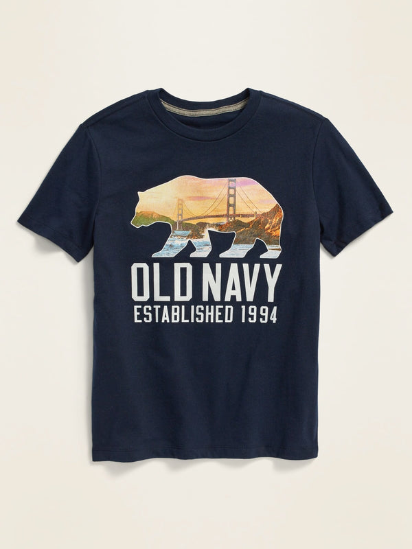 ON Logo-Graphic Short-Sleeve Tee For Boys - In The Navy