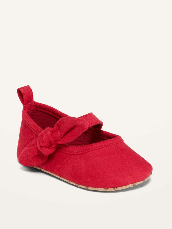 ON Bow-Tie Ballet Flats For Baby - Robbie Red
