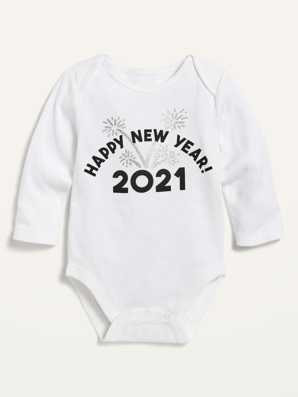 ON Graphic Long-Sleeve Bodysuit For Baby - New Year