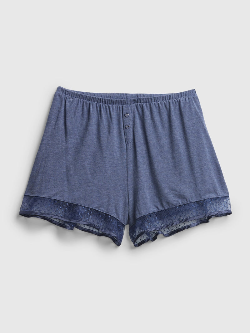 Gap Lounge Shorts In Modal - Blue Heather