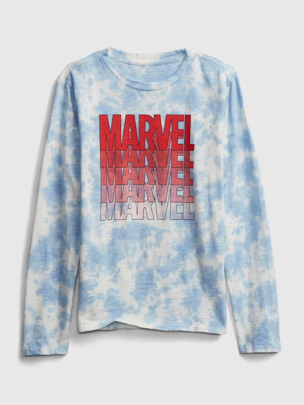 Gap Gapkids &#124 Marvel Graphic T-Shirt -Blue Tie Dye
