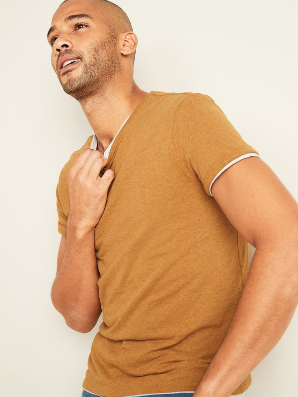 ON Soft-Washed Crew-Neck Tee For Men - Bright Marigold